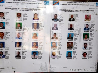 L&#039;une des listes des candidats aux lgislatives affiches sur le mur d&#039;un bureau de dpt de candidatures(Ceni)  Goma, RDC. MONUSCO/ Ph.  Myriam Asmani