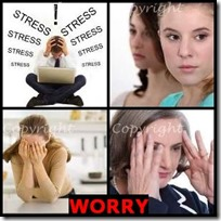 WORRY- 4 Pics 1 Word Answers 3 Letters