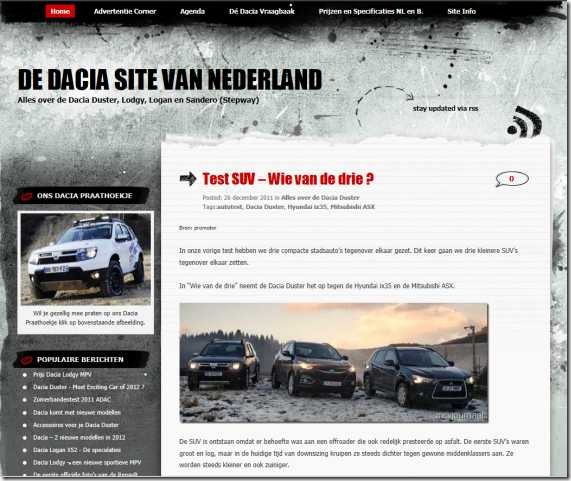 De Dacia Site van Nederland 01