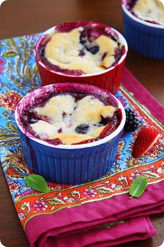 Mini Mixed Berry Cobbler