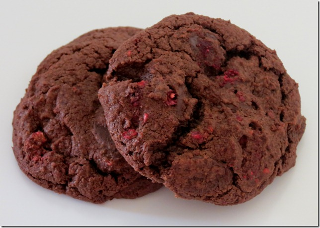 Totally Chocolate Raspberry Chocolate Chip Cookies