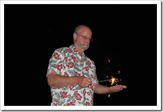 Randy the sparkler handler