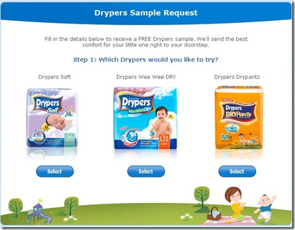 drypers sample request
