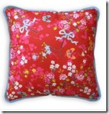 Modern red flower cushion