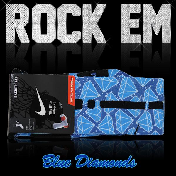Get Matching LBJ X Diamond Elite Basketball Socks and Rock 8217em