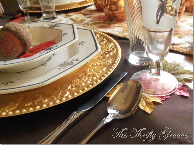 Autumn Copper Tablescape @ The Thrifty Groove