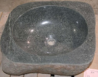 Boulder Sink - Dark Polished Rim Vessel Sink