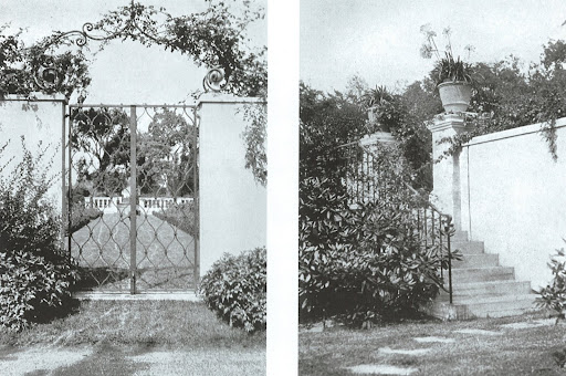 Designed by Vitale & Geiffert, these are photographs of the garden gate and stair to courtyard of the