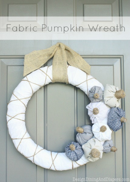 Fabric Pumpkin Wreath by Design, Dining   Diapers