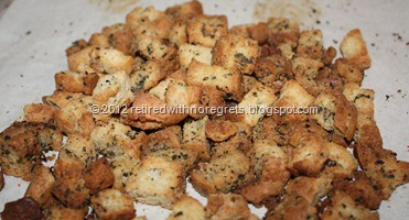 Croutons - using Biscuits