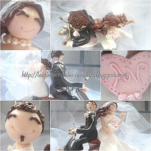 cake topper matrimonio sposi