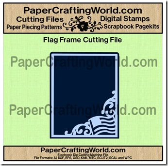 flag frame cutting file-500