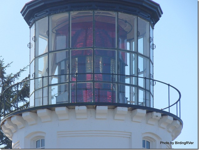 Umpqua River Lighthouse's famous Red Light.