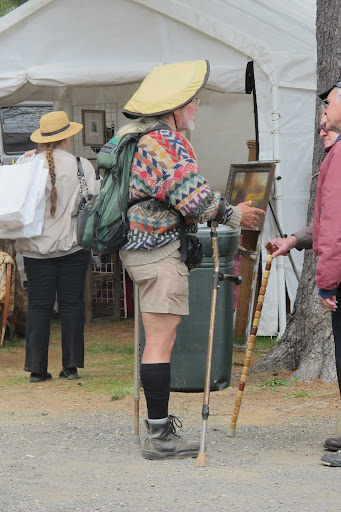 This gentleman knows what to wear to Brimfield.