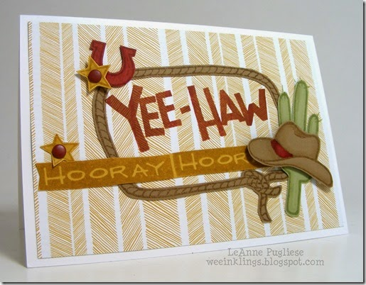 LeAnne Pugliese WeeInklings Paper Players 210 Yee Haw Thank You Stampin Up