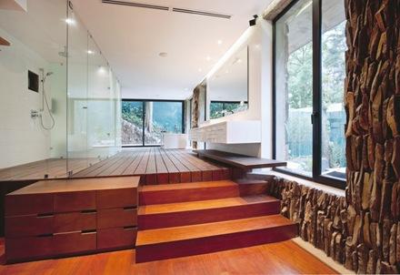 madera-piedra-baños