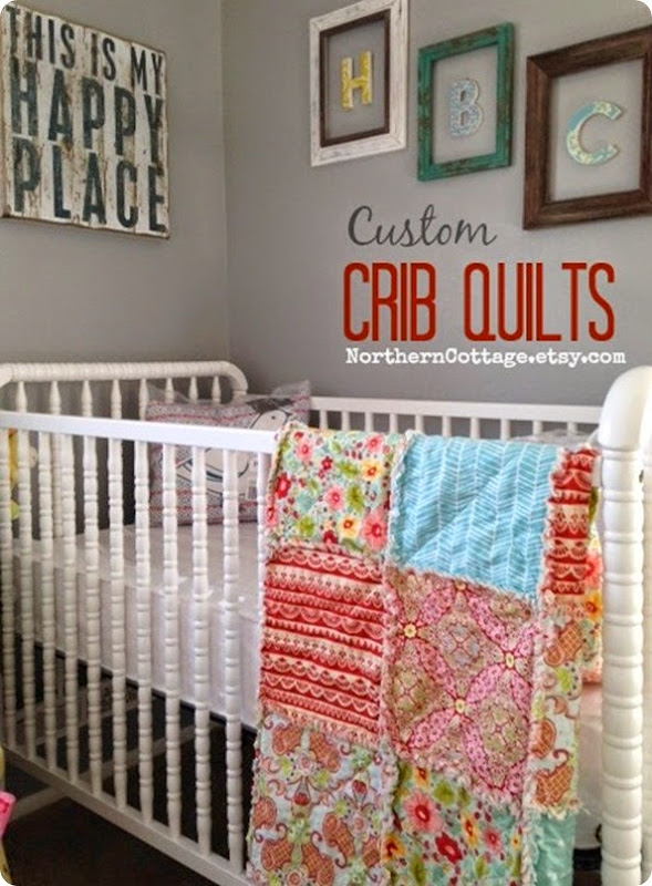 custom CRIB QUILT {NorthernCottage}