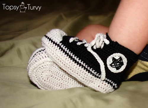 crochet tennis shoes