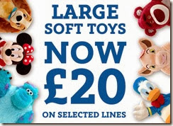 50% off selected large soft toys 28-11-2013