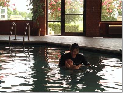 2.  Day 1 of self rescue swim lessons