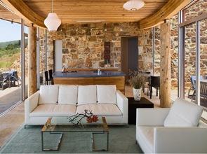 casa-rustica-y-moderna-techos-madera-curva