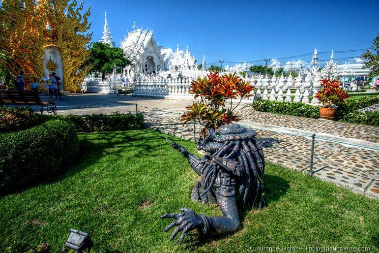 Alien statue White temple Chiang Rai Thailand