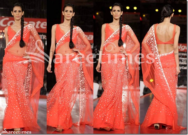 Manish_Malhotra_Peach_Net_Saree