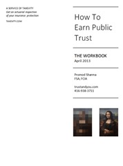 Workbook  cover - How To Earn Public Trust by Promod Sharma
