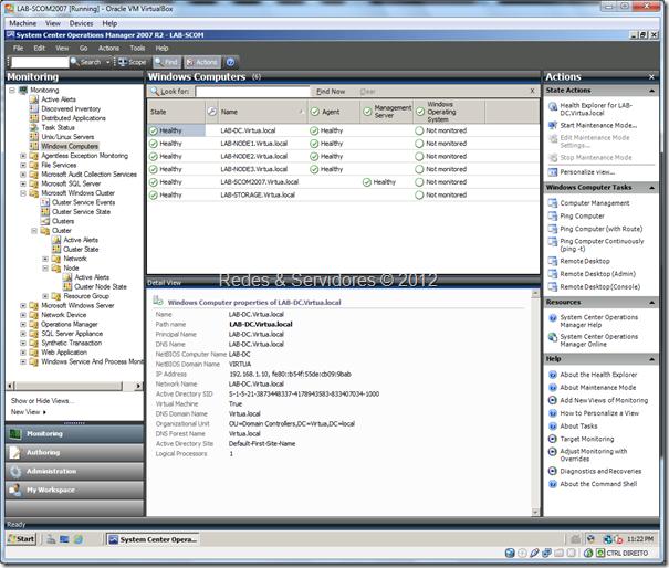 Laboratório de Virtualização SCOM2007