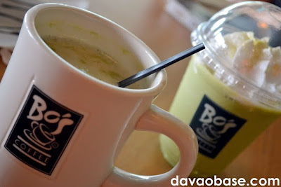 Macha Green Tea, in hot and iced variants at Bo's Coffee Abreeza