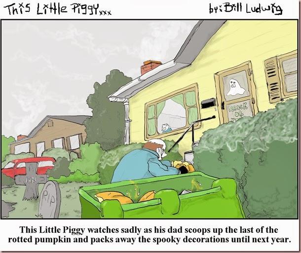 Piggy Halloween Cleanup