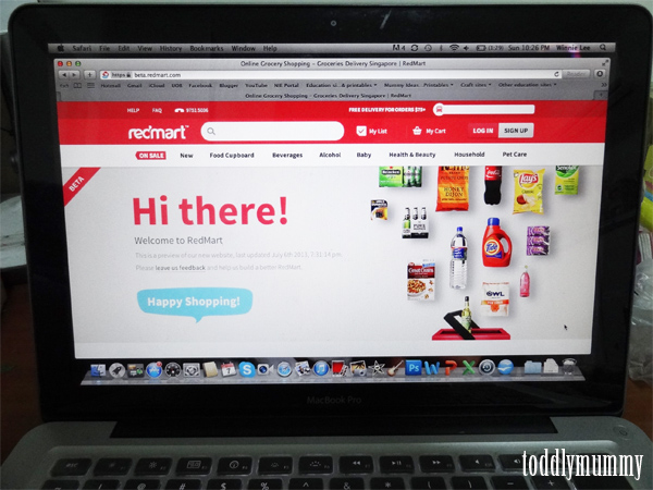 Redmart  site on mac