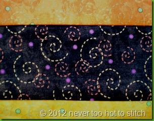 2012 Dotty Bright back panel fabric pattern