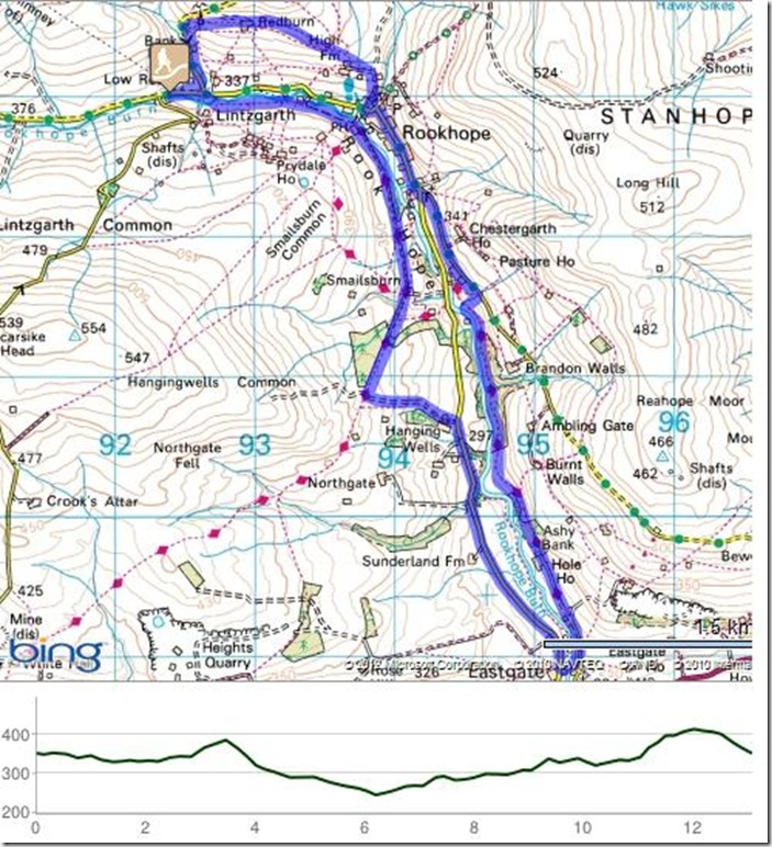 rookhope burn diverted route