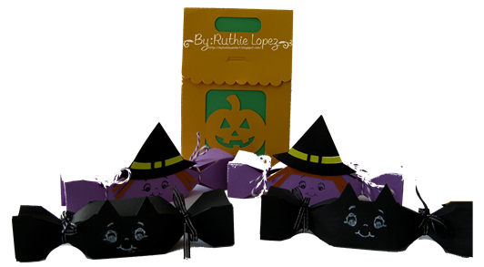 Jack O Lantern treat box - Halloween Treat box - Sister´s Scrapbook Store - Ruthie Lopez DT 2