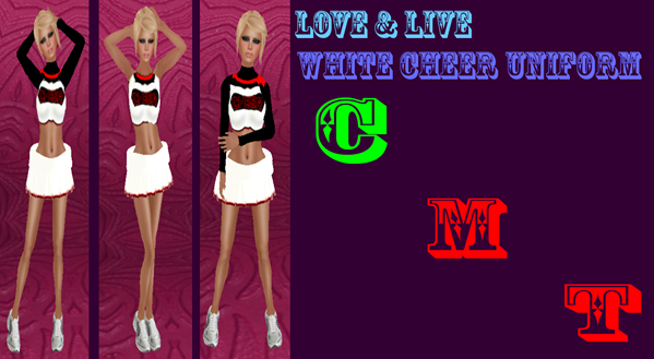 white cheer uniform advertisement photo