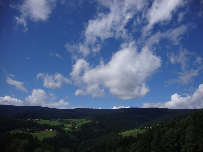 clouds, view from Rogla