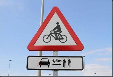 señal ciclista