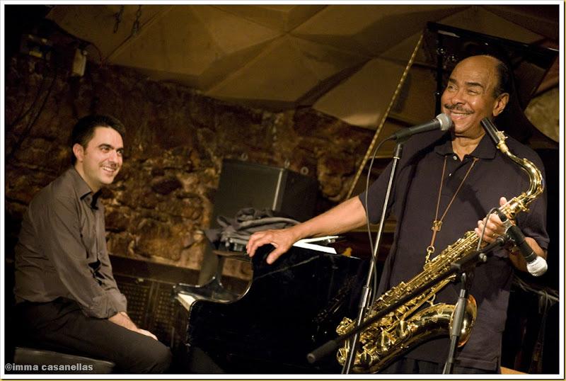 Joan Monn i Benny Golson (Barcelona 2012)