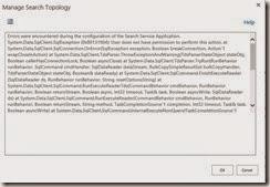 SP Search Service App Error