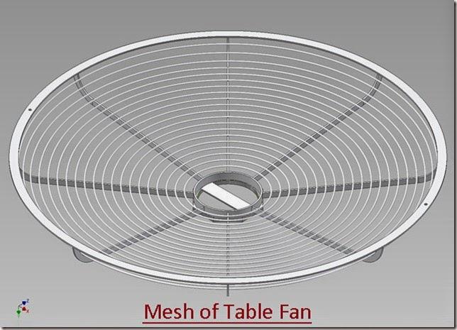 Mesh of Table Fan_3