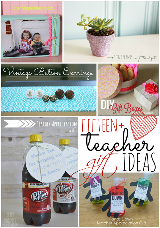 Over 15 teacher gift ideas at gingersnapcrafts.com #teachergift