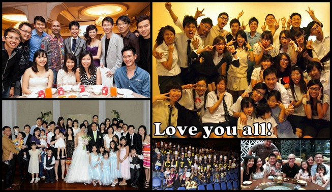 Friendship group collage