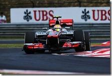 Hamilton nelle prove libere del gran premio d'Ungheria 2012