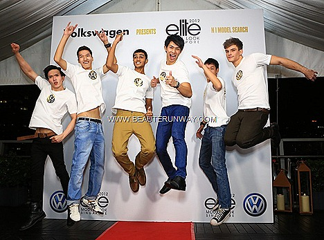 Elite Model Look Singapore Male Finalists 2012 Khelvin ReyesWinners Berik Kazymzhanov, David Hong, Riyaz Zuddeen, Gerald Lim, Ian Lee, Karlo Faggetter National Casting semi-final EML roadshows Volkswagen Golf Cabriolet The Beetle
