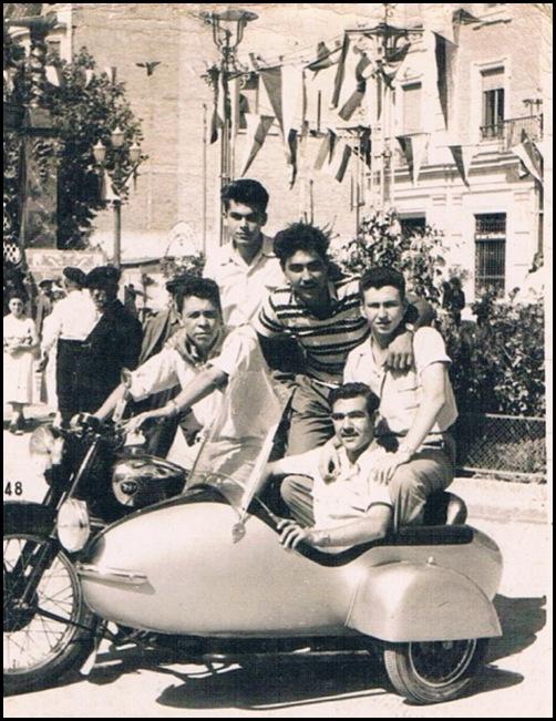 Sidecar en Valencia. Ca. 1966
