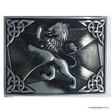 """""""Lion Rampant and Saltire"""" Kilt Belt Buckle #1"""