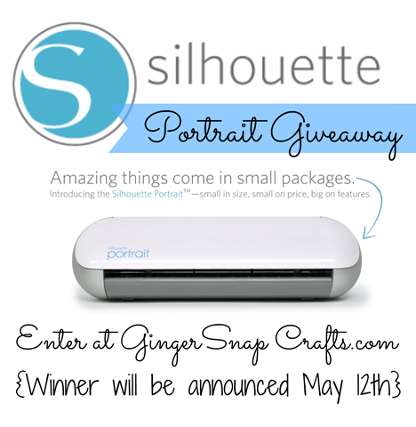 Silhouette portrait giveaway at GingerSnapCrafts.com