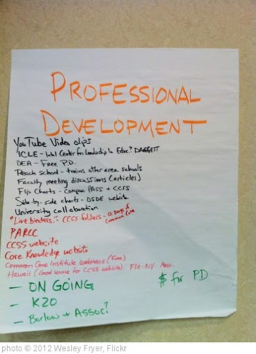 'CCSS Professional Development 1' photo (c) 2012, Wesley Fryer - license: http://creativecommons.org/licenses/by/2.0/