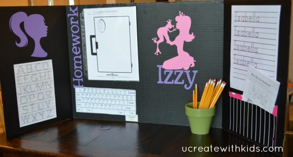 Tri-fold Homework Folder for Girl